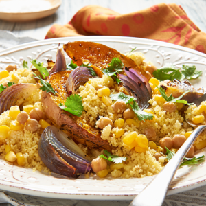 Simplot Roasted Pumpkin and Moroccan Chickpea Couscous