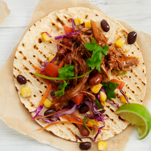 Simplot beef and bean soft shell tacos