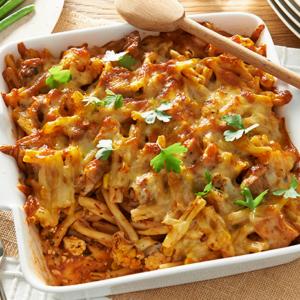 Simplot chicken pasta bake with vegetables