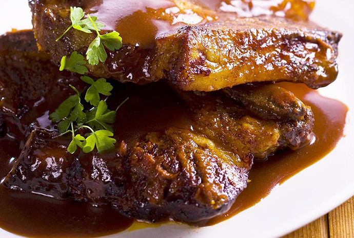Unilever spiced beef ribs with bourbon sauce