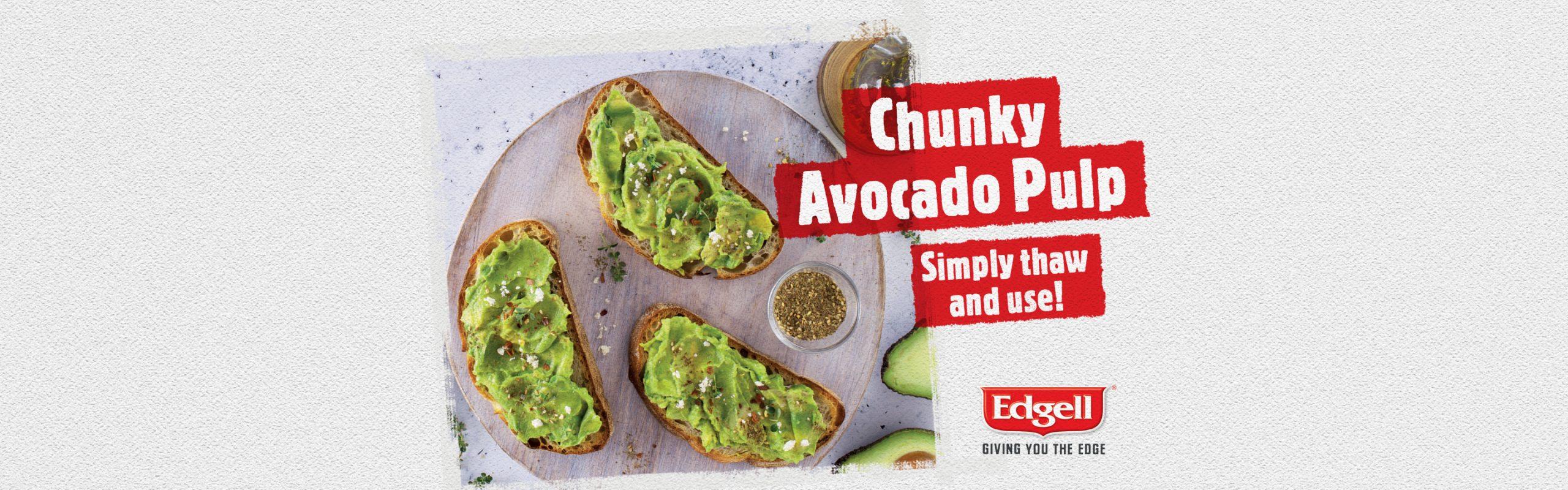 Chunky avocado pulp